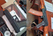 Simulacros de armas apreendidos pela PF com jovem no Paraná. Foto: Polícia Federal/Divulgação