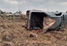 Acidente aconteceu na tarde de sábado (2), próximo ao Córrego Combate. Foto: Corpo de Bombeiros Militar/Reprodução