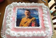 Estudante comemorou aniversário com bolo com imagens de Hitler. Foto: Reprodução