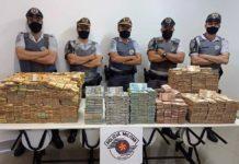 Polícia paulista encontra quase R$ 12 milhões em carreta com placas de MS. Foto: Reprodução